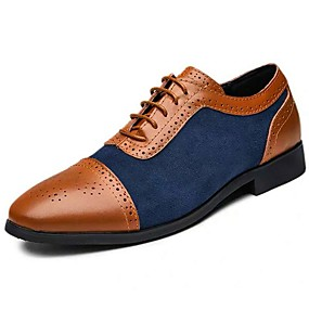 cheap Shoes & Bags-Men's PU Fall / Spring & Summer Vintage / British Oxfords Golf Shoes Non-slipping Booties / Ankle Boots Yellow / Black / Dark Blue / Party & Evening