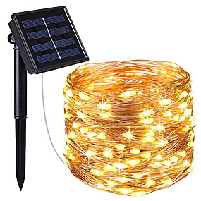 cheap LED String Lights-IP65 LED Outdoor Solar Lamp String Lights 20M 200 LEDs Fairy Flexible String Lamp Holiday Christmas Party Garland Solar Garden Decor Lighting