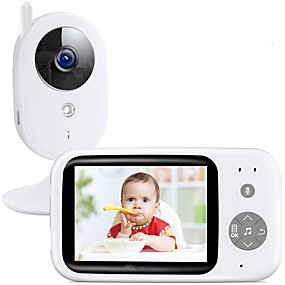 cheap IP Cameras-DIDseth Wireless Video Color Baby Monitor PAL NTSC 352 X 240 IP Camera with 3.2Inches LCD IR Camera 2 Way Audio Talk Night Vision Surveillance Security Camera