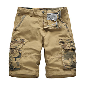 """cheap Camping, Hiking & Backpacking-Men's Hiking Shorts Hiking Cargo Shorts Military Camo Summer Outdoor 10"""" Standard Fit Ripstop Multi-Pockets Quick Dry Breathable Knee Length Shorts Bottoms Red Army Green Khaki Dark Blue Work Hunting"""