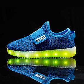 ieftine Pantofi de Copii-Băieți / Fete Pantofi Usori Flyknit Adidași Copii mici (4-7 ani) / Copii mari (7 ani +) Plimbare LED Galben / Rosu / Fucsia Primăvară / Toamnă