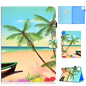 cheap iPad case-Case For Apple iPad Air/iPad Mini 3/2/1/4/5 Card Holder / Flip / Pattern Full Body Cases Scenery PU Leather For iPad Air 10.5 2019/iPad 10.2/Pro 11 2020/iPad 2017/iPad 2018