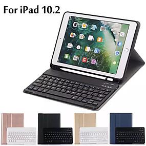 billige iPad-tastaturer-etui til ipad 10.2 etui, ultratynn avtakbart trådløst Bluetooth-tastaturetui for ipad 7. generasjon