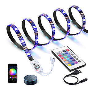 cheap WiFi Control-3M LED Light Strips RGB Tiktok Lights WiFi Intelligent Dimming Control TV Led Backlight Flexible Light Strip 90 X 5050 SMD 5V USB Interface
