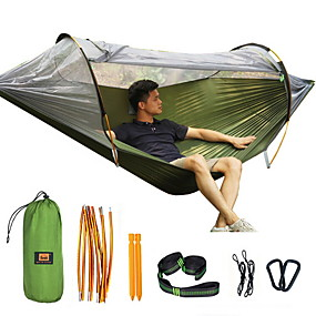 cheap Tools-Outdoor Mosquito Net Hammock Double Anti-mosquito Parachute Cloth Swing Indoor Light Tent New