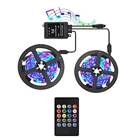 cheap Light Strips & Strings-KWB LED Light Strips RGB Tiktok Lights with Music Sync-Chase Effect Dream Color Music Lights 10M 600LED 3528SMD Rope Lights with IR Remote for Home Party Bedroom DIY Party