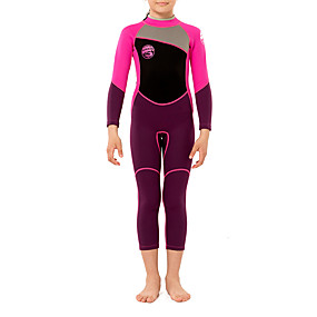 cheap Surfing, Swimming & Diving-HISEA® Boys' Girls' Full Wetsuit 2.5mm SCR Neoprene Diving Suit Thermal Warm Quick Dry Stretchy Long Sleeve Back Zip - Swimming Diving Surfing Scuba Patchwork Autumn / Fall Spring Summer / Kids