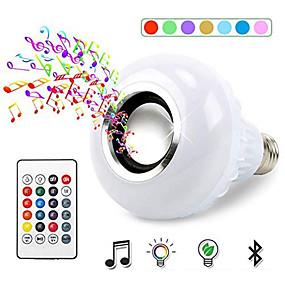 billige LED smartpærer-1pc 12 W Smart LED-lampe 700 lm E26 / E27 26 LED perler SMD 5050 Bluetooth Fjernstyrt Fest RGBW 100-240 V