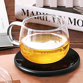 billige Hjemmeautomatisering og underholdning-220v-elektrisk brett kaffe te drikke varmere koppvarmer drikke krus pad office