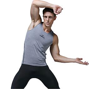 cheap Athleisure Wear-Men's Tank Top Letter Sleeveless Sports Tops White Black Gray