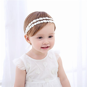 cheap Accessories-Fabric Headbands Durag Kids Bowknot Elasticity For New Baby Holiday Stylish Active White 1 Piece