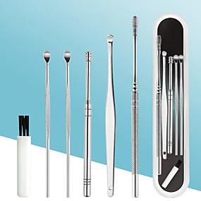 cheap Bathroom Gadgets-6PCS Ear Wax Removal Tool Stainless Steel Earpick Ear Cleaner Spoon Ear Care Cleaning Tools Ear Wax Removal Kit Ear Wax Remover