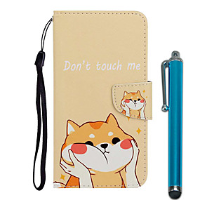cheap Samsung Case-Case For Samsung Galaxy Galaxy S10 / Galaxy S10 Plus / Galaxy S10 E Wallet / Card Holder / with Stand Full Body Cases Dog PU Leather / TPU