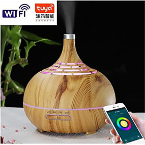 cheap Household Appliances-400ml Humidifier Ultrasonic Air Humidifier APP WiFi Control Mist Maker Aroma Essential Oil Diffuser LED Night Light Home Office