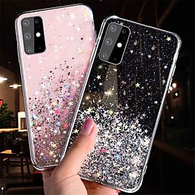 billige Telefoner og tilbehør-glitter bling paljetter etui for Samsung Galaxy S20 s20 pluss s20 ultra s10 s10 pluss s9 s9 pluss a51 a71 a81 a91 a10 a20 a30 a40 a50 a70 a10s a20s