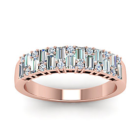 cheap Anniversary-Women's Ring Belle Ring AAA Cubic Zirconia 1pc Rose Gold Copper Rose Gold Plated Irregular Statement Luxury Party Evening Gift Jewelry Geometrical Wearable