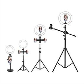 billige Hjemme Kontor-ledet selfie ring lys fyll lys Tiktok lys youtube video dimbar sending live med stativ telefonholder mikrofon 1 stk 2stk