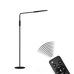 abordables LED Lampe Intelligente-lampadaire dimmable protection des yeux bras réglable capteur tactile 5 niveaux luminosité lampes de lecture smart home stay home office salon abs 100-240v blanc / noir
