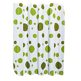 cheap Bathroom Gadgets-Mildew Resistant Antimicrobial PEVA Translucent Spot Curtain Waterproof Shower Curtain