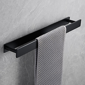cheap Golden Bathroom-16-Inch Stainless Steel Bathroom Towel Holder, Self Adhesive Bath Towel Rack,  Wall Mounted, Contemporary Style Bathroom Hardware Accessories Towel Bar, Vertical and Horizontal, Rustproof, 3 Colors, M