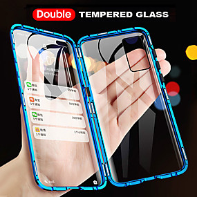 cheap Phones & Accessories-360 Double Side Magnetic Flip Tempered Glass Phone Case For Huawei P40 Pro P40 Lite P Smart 2019 Z P30 Pro P20 Pro Y9 2019 Mate 30 Pro Mate 20 Pro 9X Honor 20 Pro Full Body Anti-Explosion Protective