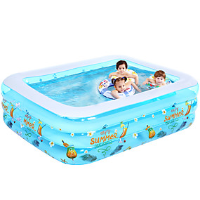 cheap Pools & Water Fun-Ball Pool Kiddie Pool Paddling Pool Inflatable Pool Intex Pool Inflatable Swimming Pool Kids Pool Water Pool for Kids Fun Novelty Silica Gel Plastic Summer Swimming 1 pcs Kid's Adults Kids Adults'
