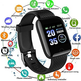 cheap Smart Watches-116plus Unisex Smart Wristbands Bluetooth Waterproof Heart Rate Monitor Blood Pressure Measurement Health Care Camera Control ECG+PPG Sleep Tracker Community Share Pulsometer