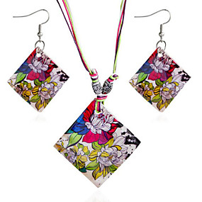 cheap Holiday-Women's Jewelry Set Classic Flower Stylish Earrings Jewelry Rainbow For Party Evening Festival 1 set