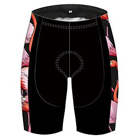 cheap Cycling & Motorcycling-21Grams Men's Cycling Shorts Bike Shorts Pants Padded Shorts / Chamois Quick Dry Breathable Sports Flamingo Solid Color Animal Black / Red Mountain Bike MTB Road Bike Cycling Clothing Apparel Bike