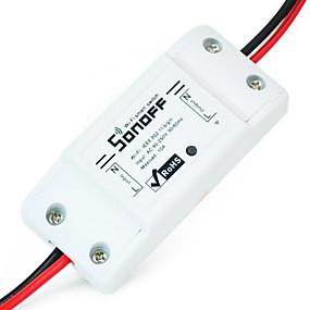 billige Elektrisk støpsel-sonoff basic wifi switch for alexa google home timer 10a / 2200w trådløs fjernbryter smart automatiseringsmodul