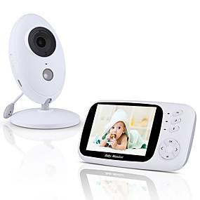 abordables Cámaras IP-visión nocturna automática monitor de temperatura de conversación bidireccional modo vox 8 canciones de cuna Alcance de 960 pies y batería de larga duración video monitor de bebé con cámara y audio