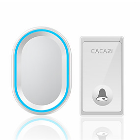 cheap Doorbell Systems-Self Powered Waterproof Wireless Doorbell No Battery Required 1 Button 1 Receiver Smart LED Light Home Door Bell US EU UK AU Plug
