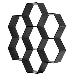 cheap Garden Tools-Fancy Hexagonal Plastic Floor Model Color Concrete Cement Floor Tile Road Stone Paving Culture Stone Mould