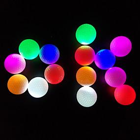 billige Ketchersport-Golfbold 3stk LED Lys Lyser i mørket Gummi Til Sport & Udendørs Øvelse Nat Golf Mellomliggende
