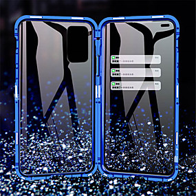 cheap Samsung Case-Magnetic 360 Metal Case For Samsung Galaxy A11 / A21 /A41 /A51 /A71 /A81 /A91 /A50 / A20 /A10 Double Sided Tempered Glass Case Cover for Samsung Galaxy S20 / S10 /Note 10 / 10Pro