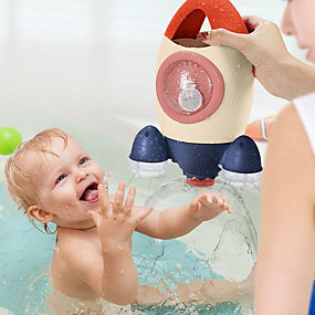 cheap Bathroom Gadgets-Bath Toys Play In Summer In Bathroom Water Playing Toy Rocket Fountain Water Spraying Rotary Spraying Beach Toy New Year Gift