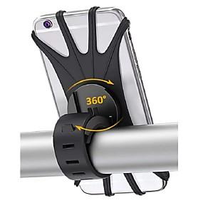 billige Bagasje til motorsykkel-sykkeltelefonfeste 360-beskyttelse silikon sykkeltelefonholder universal motorsykkelstyrfeste passer til iphone 11 pro max / xr / xs max / 8/7/6 / 6s pluss galaxy s20 / s9 4.0-6.0 telefoner