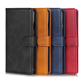 cheap Samsung Case-Case For Samsung Galaxy A71 / Galaxy A11 / Galaxy A41 Card Holder / Shockproof Full Body Cases Solid Colored PU Leather