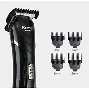cheap Hair Clipper-KEMEI KM-1407 6 in 1 Hair Clipper Electric Shaver Multi Functional Razor Nose Rechargeable Hair Trimmer Cordless Men Barber Tool Cutter Kit