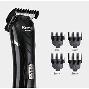 halpa Hiustenhoito ja muotoilu-kemei km-1407 6 in 1 hiusleikkuri sähkökäyttöinen parranajokone monitoiminen partakoneen nenä ladattava hiustenleikkuri johdoton miesten parturi-työkaluleikkuri