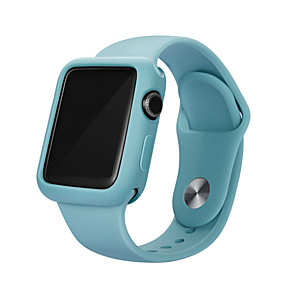 cheap Smartwatch Accessories-Bumper For Apple Watch Series 5/4/3/2/1 Case Candy Color TPU Cover Slim Fit Protector Ultra-thin For iwatch  40mm/44mm/38mm/42mm