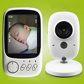 cheap Home Security System-3.2 inch Wireless Video Color Baby Monitor High Resolution Baby Nanny Security Camera Night Vision Temperature Monitoring