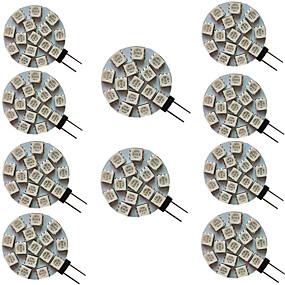 cheap LED Bi-pin Lights-10pcs 3 W LED Bi-pin Lights 300 lm G4 15 LED Beads SMD 5050 Warm White Cold White Natural White 9-30 V