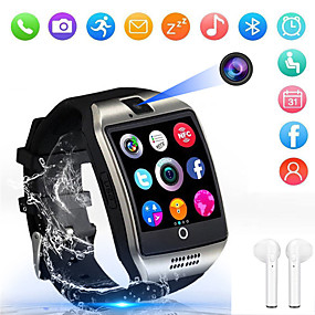 cheap New Arrivals-Indear Q18 Men Women Smartwatch Android iOS Bluetooth 2G Waterproof Touch Screen Sports Calories Burned Hands-Free Calls Timer Stopwatch Pedometer Call Reminder Activity Tracker / Sleep Tracker