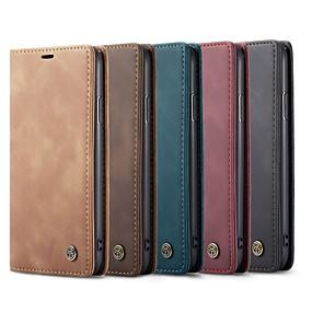 billige Vesker og deksler-caseme nye retro lær magnetisk flipveske for iphone se2020 / 11 pro max / 11 pro / 11 / xs max / xs / xr / x / 8 pluss / 7 pluss / 6 pluss / 8/7/6 med stativdeksel for lommebok kortspor