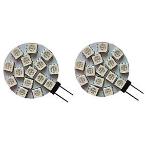 billige Elpærer-2pcs 3 W LED-lamper med G-sokkel 300 lm G4 15 LED perler SMD 5050 Varm hvit Kjølig hvit Naturlig hvit 9-30 V