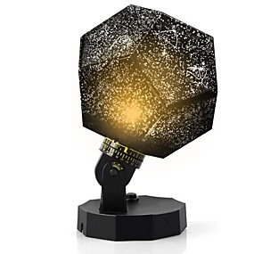 cheap Décor & Night Lights-LED Galaxy Star Night Light Projector Rotating Starry Sky Light Tiktok Star Light Projector Nebula Projector USB Cable Rechargeable