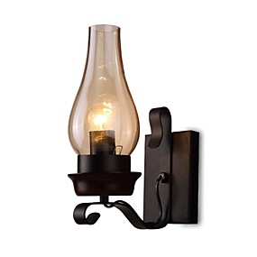 cheap Indoor Wall Lights-Wall Lamp Retro Vintage Rustic Nordic Glass Wall Scone for Bedroom Bedside Industrial Wall Light Fixtures Bedroom Aisle Staircase Lamps