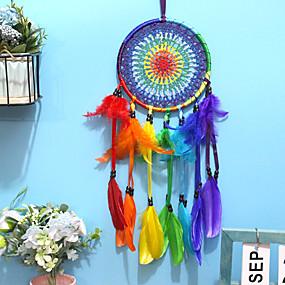 cheap Dreamcatcher-Dreamcatcher - Feather Vintage 1 pcs Wall Decorations