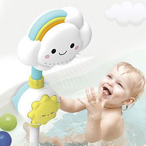 cheap Bathroom Gadgets-Multi-directional Baby Rainbow Shower Children Kids Bath Cloud Flower Spray Water Shower Head Tub Faucet Bathroom Funny Toys